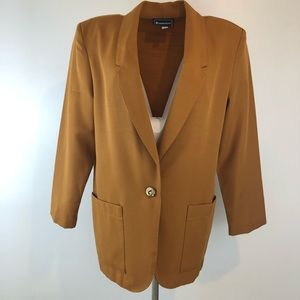 Mustard yellow vintage blazer
